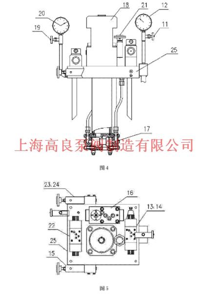 附图说明    如图6所示,工作原理如下:(一)油泵泄荷:启动电机9后