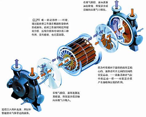 sk型水环式真空泵及压缩机是用来抽吸或压送气体图片