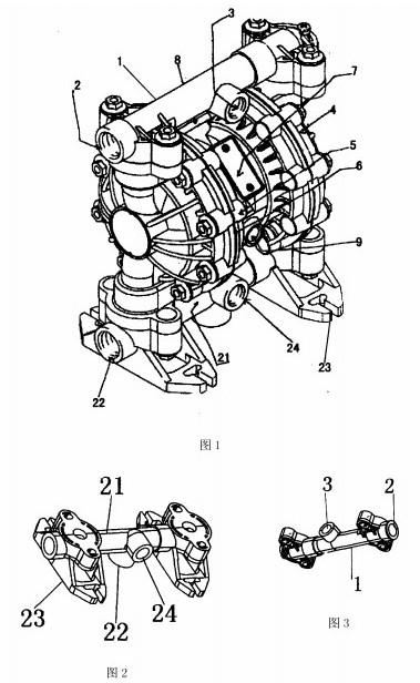 新型化工气动隔膜泵设计参考-厂家图片