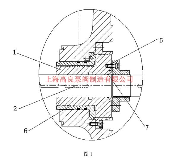1为平衡鼓结构装配后示意图.-多级泵平衡鼓改进方法