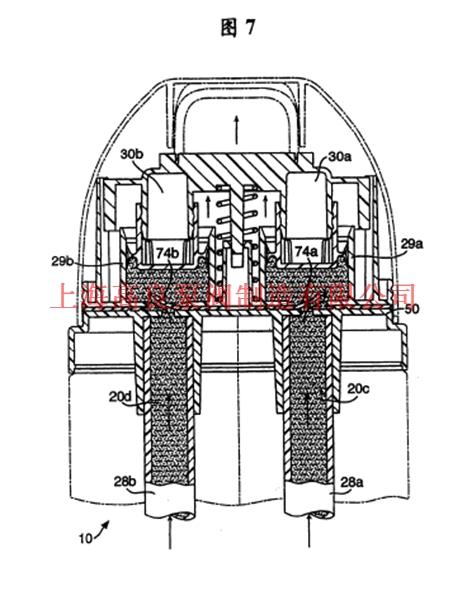 20b之间平面的截面图,显示了圆柱形阀筒体的上行程;-计量分配泵图片